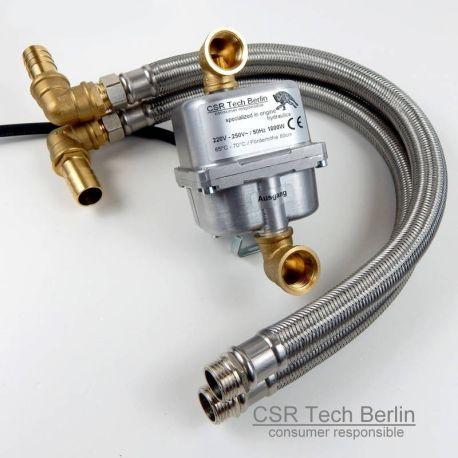 """Motorvorwärmer 230V 1800w mit 1/2"""" DN16 Flexschlauch"""