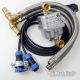 "engine preheater 230V 1800w Universal with IP68 additional connection cable and 1/2"" DN16 hosepipe"